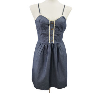 Pins & Needles Chambray Sleeveless Dress 8